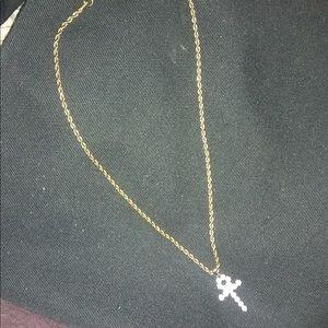 Jewelry - Zumies gold Gods Necklace w/cross charm.